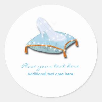 White Elegant Storybook Princess Wedding Favor Classic Round Sticker