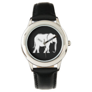 White Elephant Beautiful Cool Elegant Simple Chic Watches