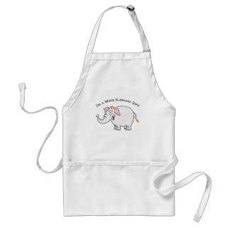 White Elephant Exchange Cartoon Standard Apron