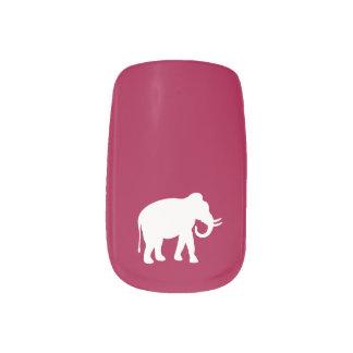 White Elephant Minx Nail Art