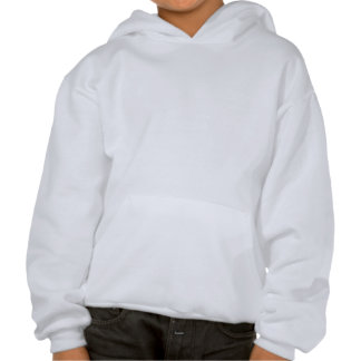 White Elephant Pattern on Gray Hooded Pullovers