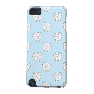 White Elephant Pattern on Pale Blue. iPod Touch (5th Generation) Case