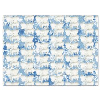 White elephant pattern snowflake party tissue tissue paper