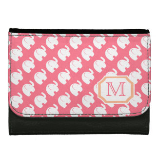 White Elephant Pattern with Mongram Wallet