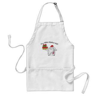 White Elephant Santa Hat Gifts Cartoon Standard Apron
