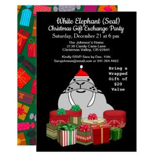 White Elephant Seal Christmas Gift Exchange, ZPR Invitation