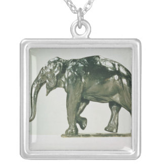 White Elephant Silver Plated Necklace