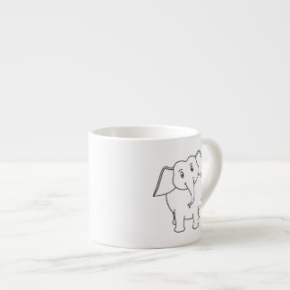 White Elephant. Espresso Mug