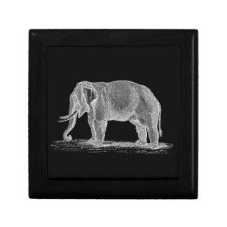 White Elephant Vintage 1800s Illustration Gift Box