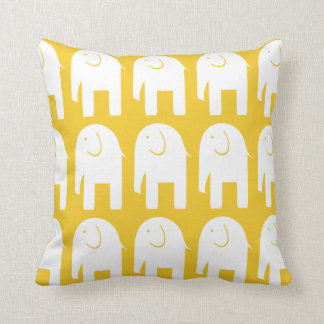 White Elephants on Yellow Cushion