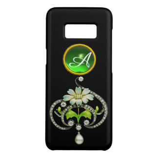 WHITE ENAMEL FLOWER, PEARLS AND DIAMONDS MONOGRAM Case-Mate SAMSUNG GALAXY S8 CASE