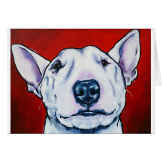 White English Bull Terrier Card