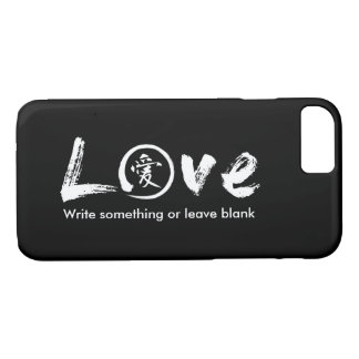 White enso zen circle | Japanese symbol for love iPhone 8/7 Case