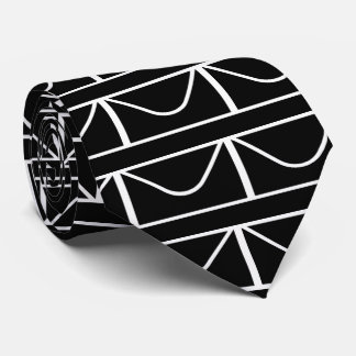White Envelopes Pictogram Tie