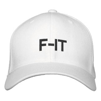 white  F-IT hat Embroidered Baseball Cap