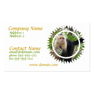White Faced Capuchin Monkey Business Card