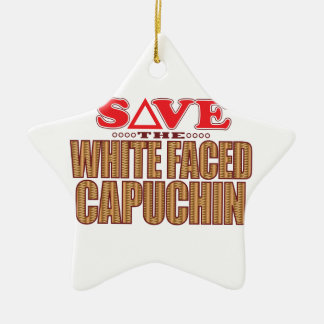 White Faced Capuchin Save Christmas Ornament