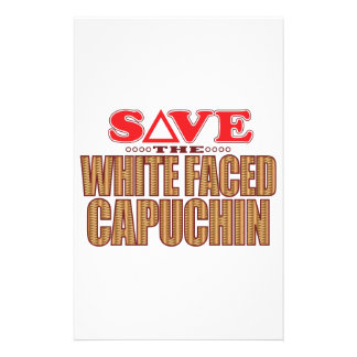 White Faced Capuchin Save Customized Stationery
