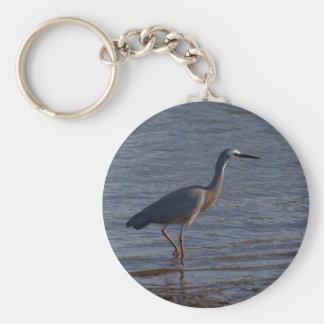 White-faced Heron Keychain