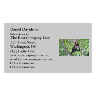 White-Faced Monkey Family Photo Business Card Templates