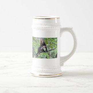 White-Faced Monkey Family Photo Mug