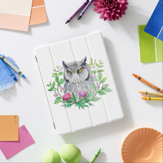 White-faced Scops Owl and thristle iPad Cover