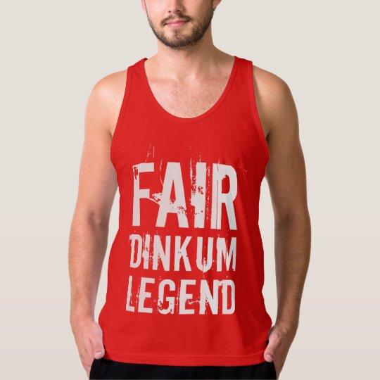 White Fair Dinkum Legend Tank Top