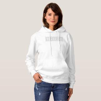 White Fair Isle Snowflakes L/S Hoodie Sweatshirt