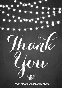 chalkboard thank you cards zazzle uk