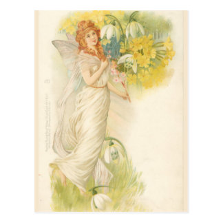 White Fairy with Snowdrops Postcard