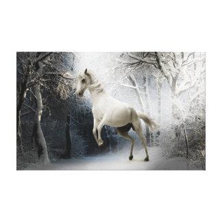 white fantasy horse canvas print