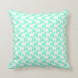 White Faux Houndstooth Choose color Pillow