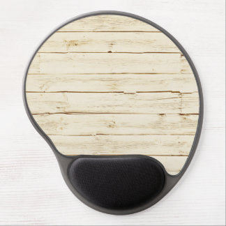 White Faux Wood Gel Mouse Pad