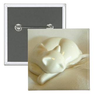 White Feather 15 Cm Square Badge