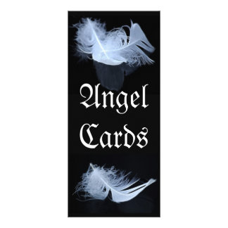White feather - angelic by nature 10 cm x 23 cm rack card