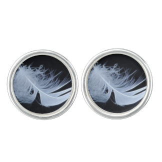 White feather - angelic by nature cuff links