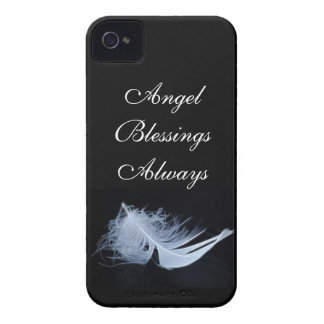 White feather - angelic by nature iPhone 4 Case-Mate cases