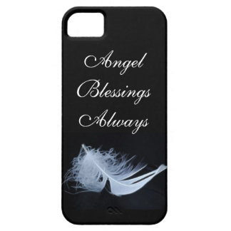 White feather - angelic by nature iPhone 5 cover