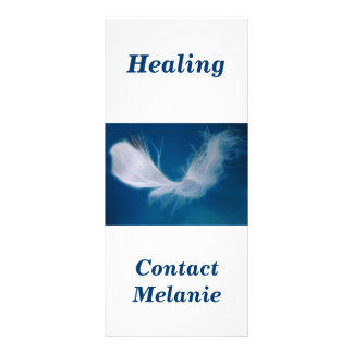 White feather art - symbol of purity and innocence rack card template