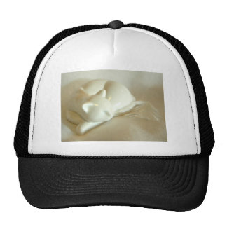 White Feather Mesh Hat