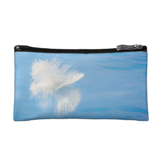 White Feather Reflects on Water | Seabeck, WA Makeup Bag