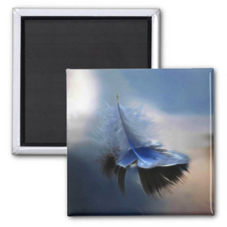 White feather sailing refrigerator magnet