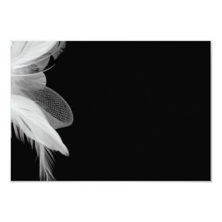 White Feathers 3.5x5 Enclosure Card 2 9 Cm X 13 Cm Invitation Card