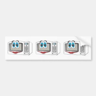 White Female Cartoon Microwave Bumper Stickers