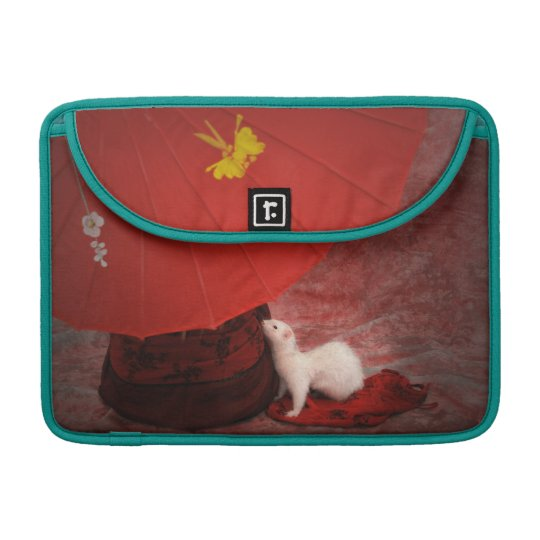 White Ferret MacBook Peacock sleeve - Red Passion Sleeve For MacBook Pro