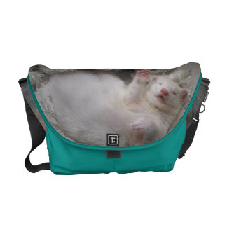 White Ferret Messenger Bag