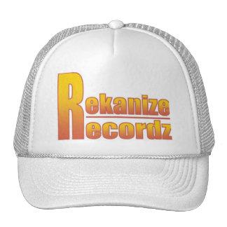 White Fiery Rekanize Recordz Logo Hat