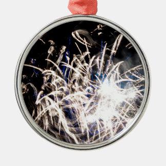 White fire Silver-Colored round decoration