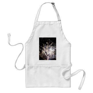 White fire standard apron