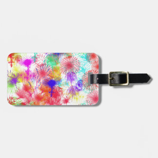 White Fireworks Luggage Tag